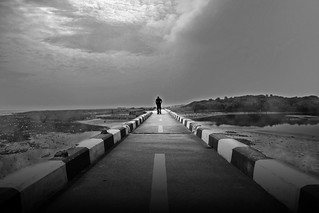 The lonely walk