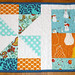 Mod pinwheel table runner