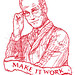 Tim Gunn embroidery by Totally Severe