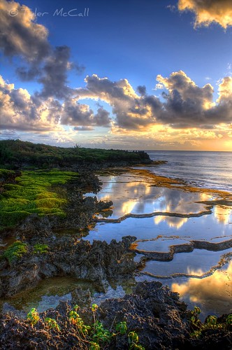 ocean blue sea reflection green water pool rock clouds sunrise coast waves pacific coastline hdr guam photomatix canonrebelxs canonefs1855mmf3556is canoneos1000d tylermccall saluglulapoolpark