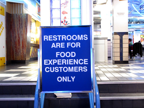 Restrooms are for...