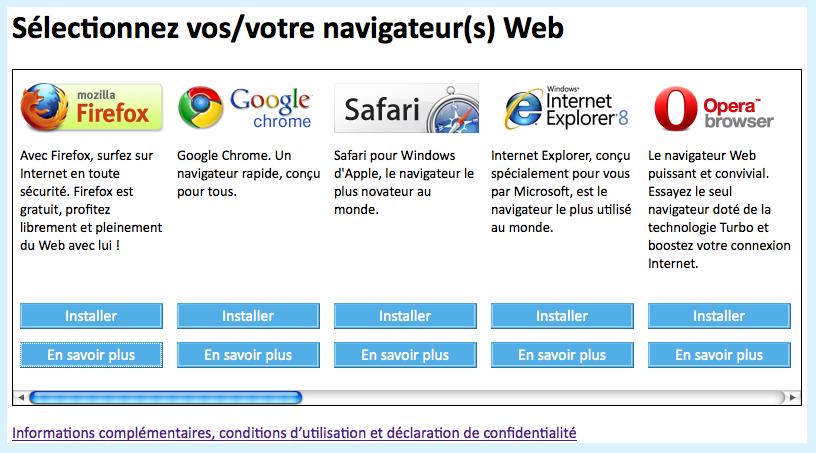 Ecran de choix du navigateur vous de jouer standblog for Choix ecran photo