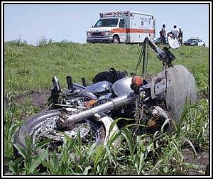 Motorcycle crash with ambulance by Utah Bike Law