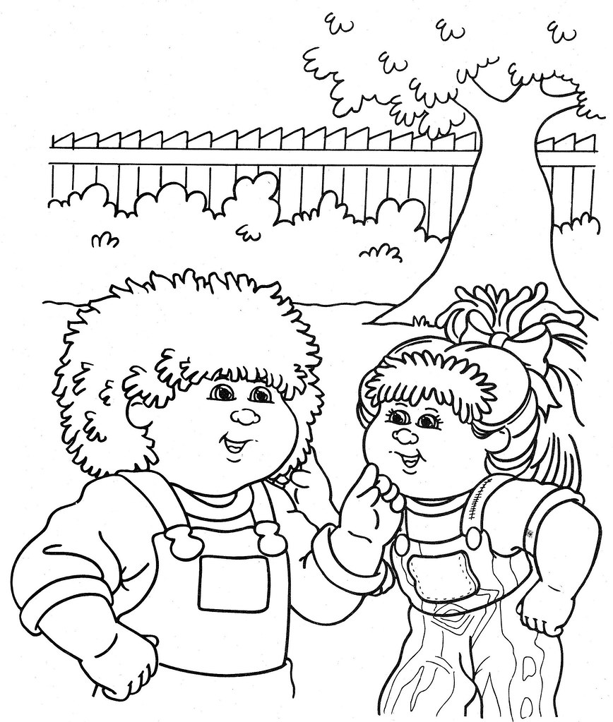 cabbage patch coloring pages - photo#38