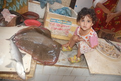 Marziya at Bandra Bazar Fish Market by firoze shakir photographerno1
