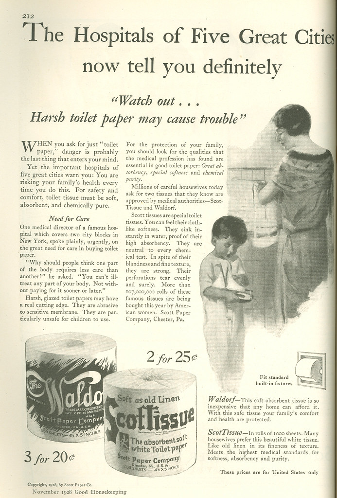 Scott Toilet Tissue, 1928