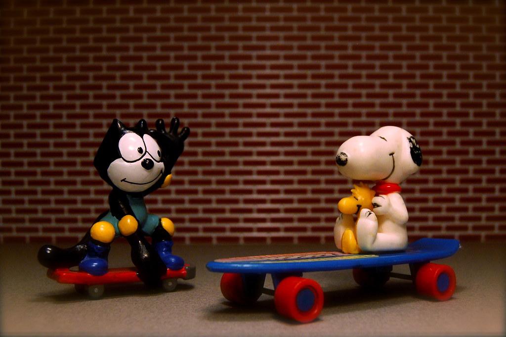 Felix the Cat vs. Snoopy (62/365)