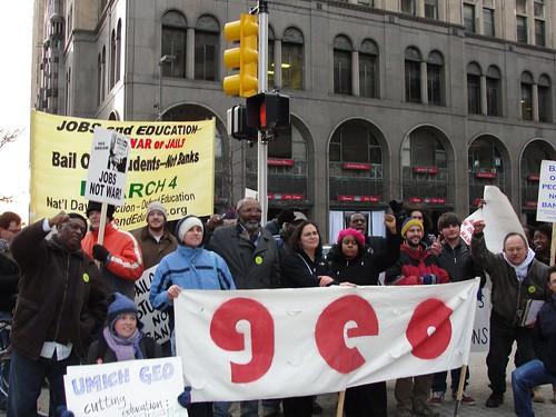 Detroit participants in the March 4 demonstration and rally to defend public education. The demonstration called for the restoration of all funding cuts in public education and an end to privatization. by Pan-African News Wire File Photos