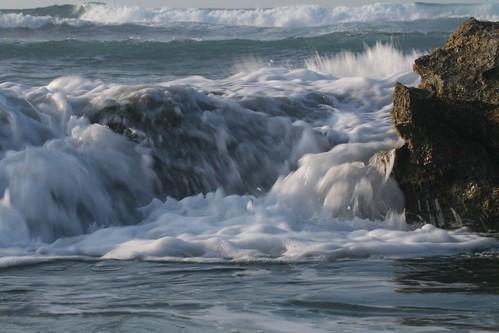beachwaterrockssand
