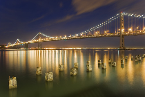 sanfrancisco california city longexposure bridge sunset color reflection night lights bay twilight baybridge embarcadero bayarea coth marinmagazine impressedbeauty flickraward platinumpeaceaward bestofmywinners coth5 mygearandmepremium mygearandmebronze mygearandmesilver mygearandmegold mygearandmeplatinum