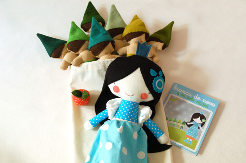 softies&tales . snow white & the seven dawrfs - the set
