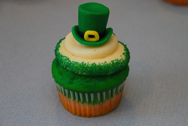 St. Patrick's Day cupcake, leprechaun hat