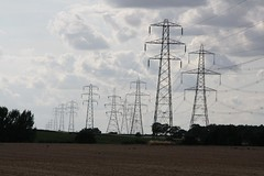 electrical supply, overhead power line, transmission tower, electricity, tower,