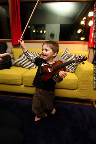 stage presence with the baby fiddle