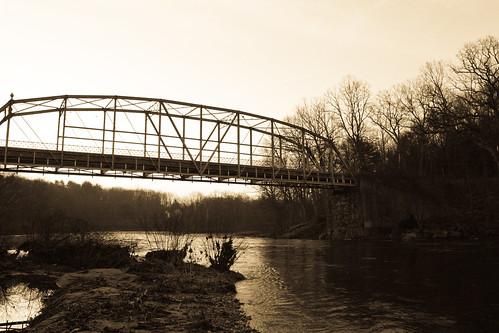 morning bridge sunrise canon river landscape rebel town connecticut farmington xsi collinsville 450d canon450d rebelxsi