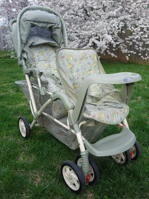Graco Double Stroller With Infant Car Seat Attached