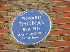 Photo of Edward Thomas blue plaque