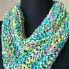 Hand Knit Self-FringingSassy Wrap - Pastel Pastiche