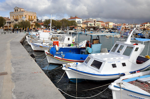 A harbour area in the Saronic Islands.