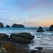 Pink Horsetails - A Sunset at Rodeo Beach, California (6000 x 4000 px Panorama)