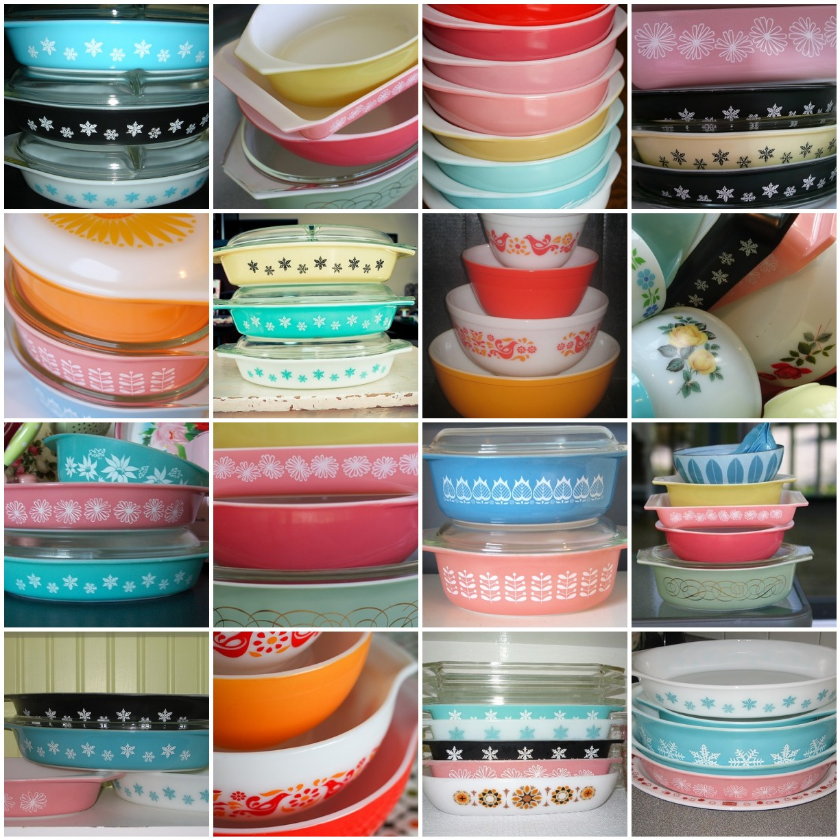 Pink Retro Kitchen Collection Vintage Pyrex A Photo On Flickriver