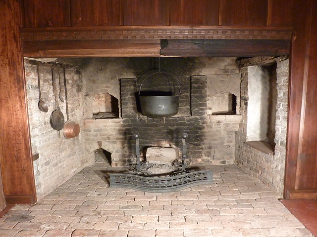 Inglenook Oven In Country Kitchen