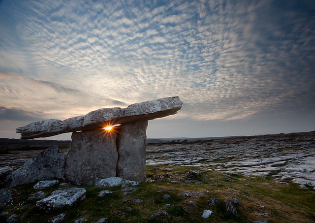 Sunset over Poulnabrone