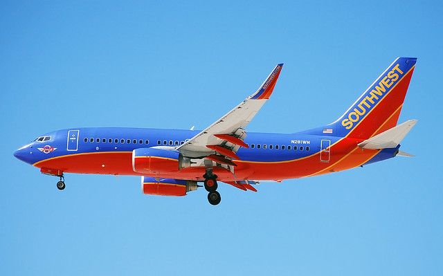 N281WN Southwest Airlines 2007 Boeing 737-7H4  (cn 36528/2307)