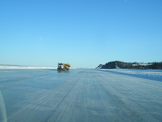 Ice road trucker on the ice road - part 2