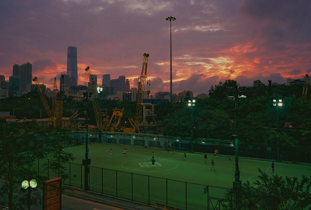 CNV000023 | PolyU playground in the sunset | rhino loves