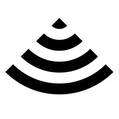 Visual Simile Symbol Icon Echoes - Apple Mac OS X 10.5.8 Airport WiFi Radio Signal Strength Meter