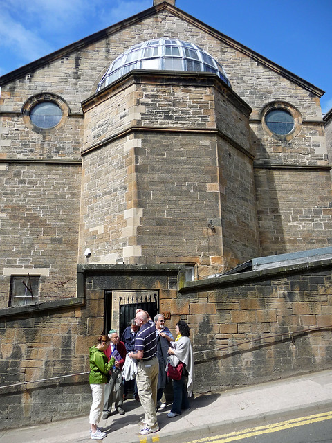 Tour group at Garnethill Synagogue, Glasgow, Scotland