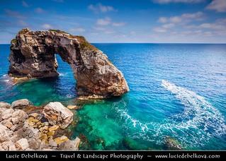 Spain - Mallorca - Turquoise Waters of Rock Es Pontas at Cala Santanyi