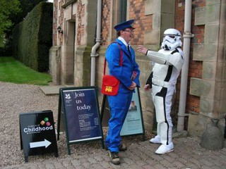 Postman Pat and Stormtrooper share tips on looking good