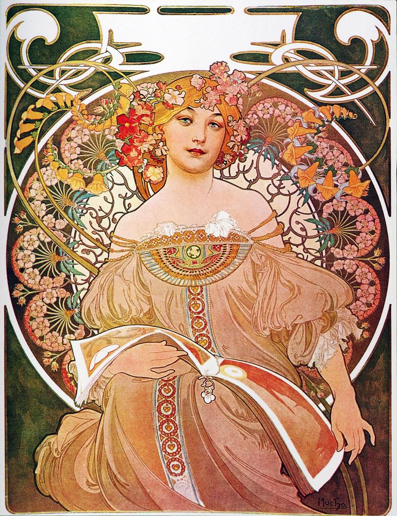 Alphonse Mucha - P1 Reverie/Daydream, 1896.