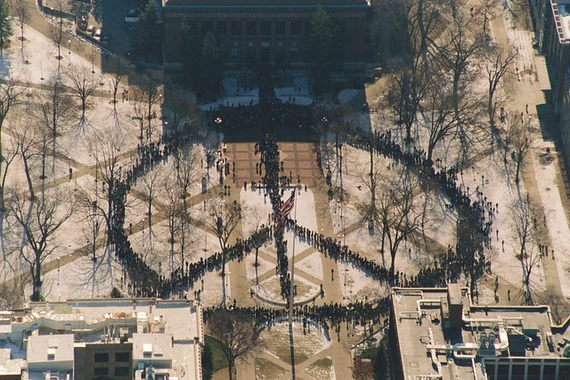 World's largest human peace sign