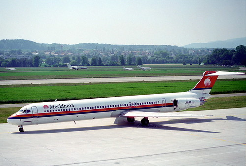 Meridiana MD-83; I-SMEM@ZRH;25.05.1995