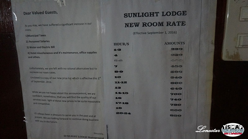Sunlight Lodge Rate
