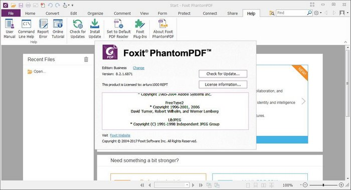 Foxit PhantomPDF Business 8 v8.1.1.1115 32bit 64bit Final full