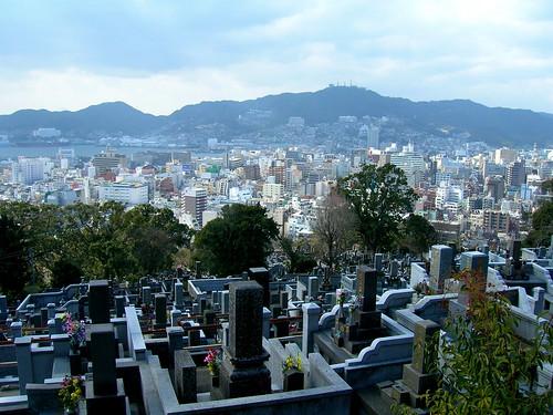 Graves near Kazagashira Park