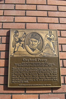 San Francisco: AT&T Park - San Francisco Giants Wall of Fame - Gaylord Perry
