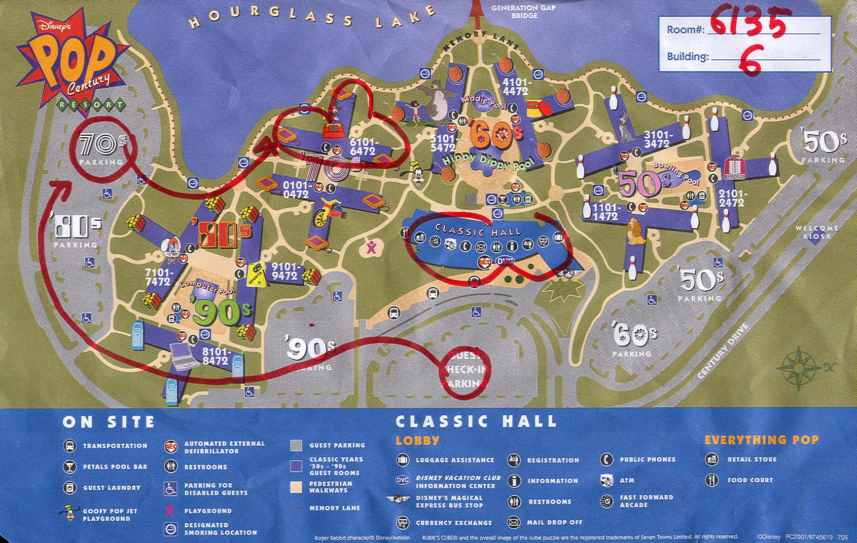 Disney S Pop Century Resort Map Or Do You Know The Way To