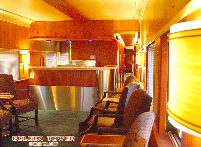 Private Rail Car - Golden Tower, lounge and bar