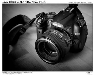 Nikon D5000 w/AF-S Nikkor 50mm f/1.4G