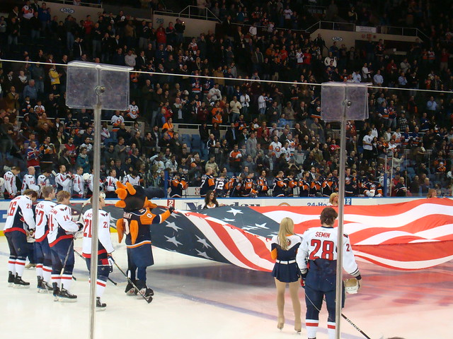 Holding the Giant Flag