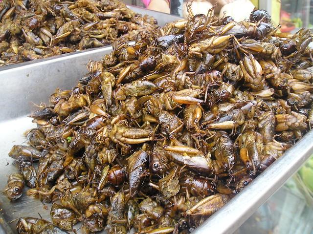 Fried crickets, Russian Market, Phnom Penh | Flickr ...