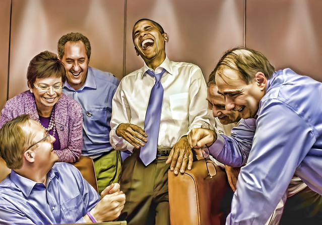 Obama laughing with aides.jpg