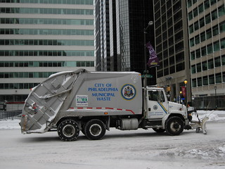 Trash Truck with Snowplow 2