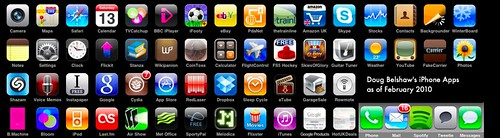 My iPhone apps as of February 2010, dougbelshaw / CC BY 2.0
