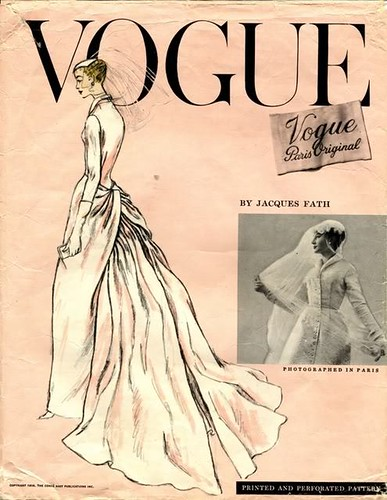 vogue fath bridal gown 1331, 1956